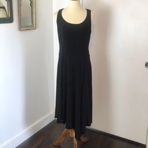 Anne Klein Black Knit Asymmetrical Dress NWT